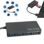 5Gbps Speed 4-Port USB 3.0 Portable Hub Adapter Laptops & Accessories
