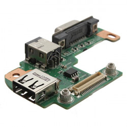 AC DC Power Jack Port VGA USB IO Board PFYC8 for DELL INSPIRON