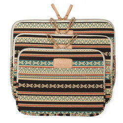 Bohemian Soft Canvas Laptop Sleeve Taske