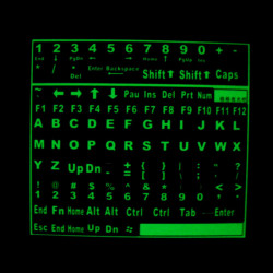 DIY Self-adhesive Glowing Luminous Fluorescent Keyboard Stickers