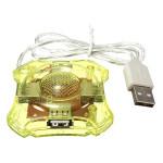 Mini Flexibel High Speed 4-Portars USB-hubb för Bärbara Notebook PC Laptop Tillbehör