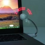 Mini USB Programmerbar LED DIY Meddelanden Cooling Fläkt Laptop Tillbehör