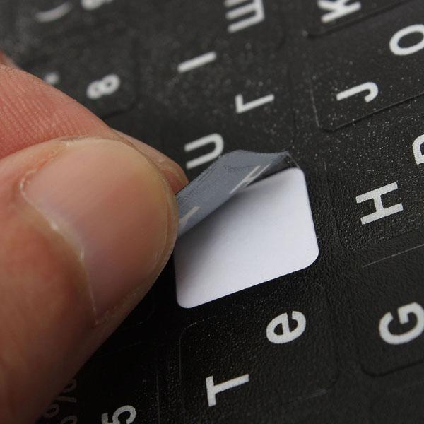 Russian Standard Tastaturbelegung Aufkleber w / weiße Buchstaben LJN Laptops & Zubehör