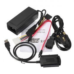 USB 2.0 zu SATA / IDE Festplattenlaufwerk Kabel für HDD Konverter W Energie