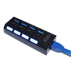 USB 3.0 4 Port Hub 5 Gbps mit Ein / Aus Schalter