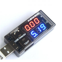 USB Detector Current Voltage Tester Double USB Row Shows