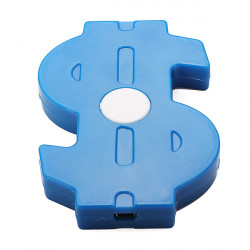 USD Symbol Design Blau USB 2.0 4 Port Hub