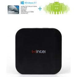 Wintel W8 Mini PC Box Windows Android Dual OS Intel Atom Z3735F