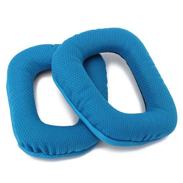 1Pair Blue Replacement Ear Pads for Logitech G35 G930 G430 F450 Microphones & Headphones