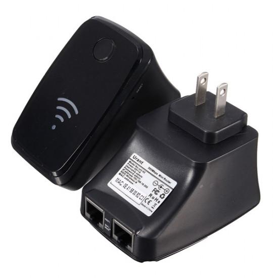 300Mbps Trådlös-N Mini Router WiFi Repeater Range Extender Booster 2021