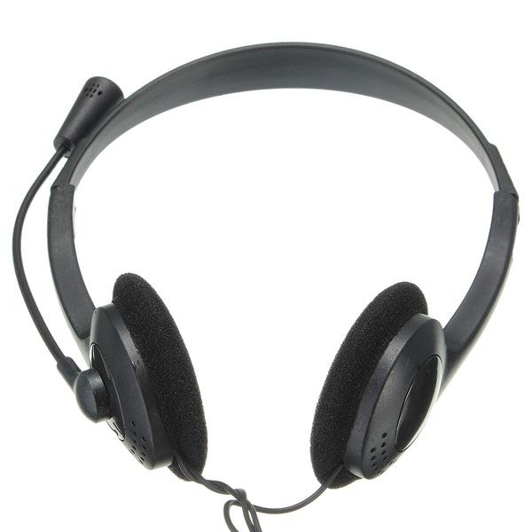 3.5 Mm Stereo Hovedtelefoner med Mikrofon for Gaming Computer PC Laptop VOIP Mikrofoner & Hovedtelefoner