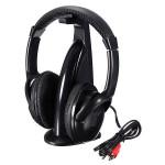 5in1 Trådløs Headphone HiFi Monitor FM MIC til PC TV DVD Audio Mobile Mikrofoner & Hovedtelefoner