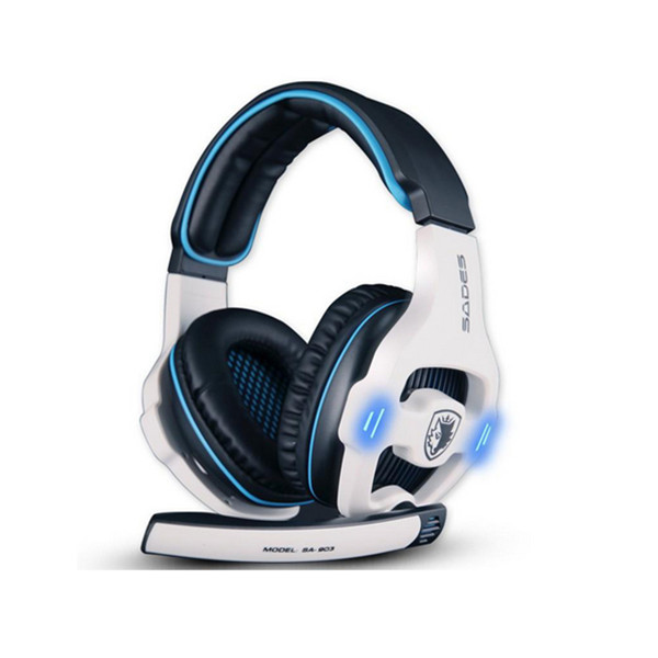 7.1 Surround Sades SA-903 Stereo Gaming Headphone with Mic Microphones & Headphones