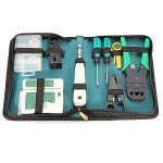 9 in 1 RJ45 RJ11 Cat5 Network Tool Kit Cable Tester Crimper Plug Set Networking