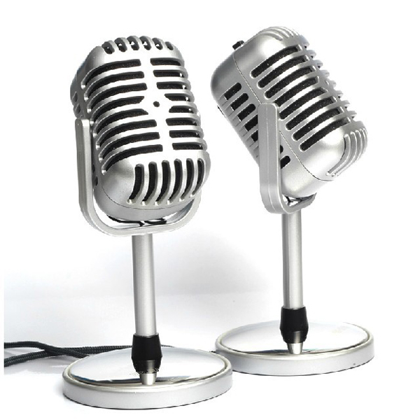 Classical Nostalgic Microphone For Networking Chat MSN SKYPE Microphones & Headphones