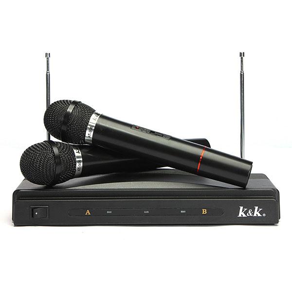 Dual Akku Drahtlos Mic Mikrofon mit Empfänger Mikrofone & Kopfhörer
