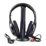 MH2001 5 in 1 Wireless Headphone PC TV CD  MP3 FM Microphones & Headphones