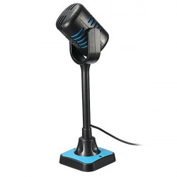 MK-100 Multimedia Stereo Karaoke Studio Speech Microphone with Stand