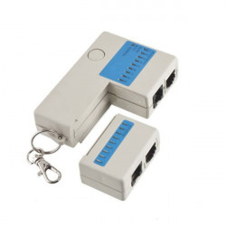 Mini RJ45 RJ11 Cat5 Network LAN Cable Tester White