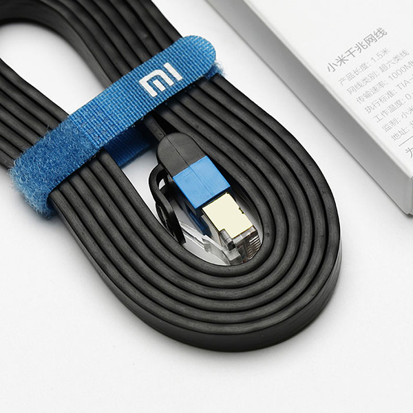 Original Xiaomi Ethernet Cable Cat 6 RJ45 1000Mbps 24K Gilded Premium 1.5M Networking