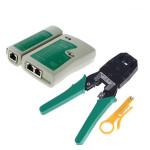 RJ45 RJ11 RJ12 Netzwerk Abisolierzange Zange Crimp Kabeltester Werkzeug Satz Netzwerk Werkzeuge