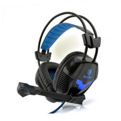 Sades A30 Stereo Gaming Hörlurar med Mikrofon Blå LED-lampor