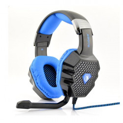 Sades A70 Stereo 7.1 Sound Breathing Light Gaming Headphone with Mic