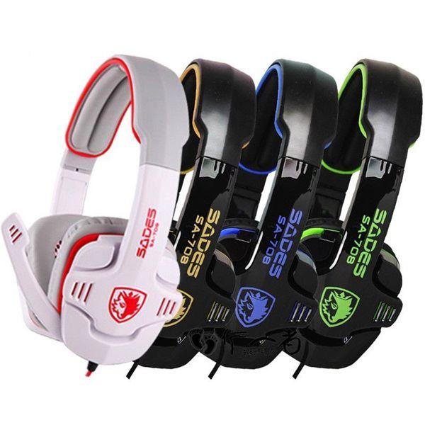Sades SA-708 Gaming Stereo Mega Bass Headphone without Original Box Microphones & Headphones