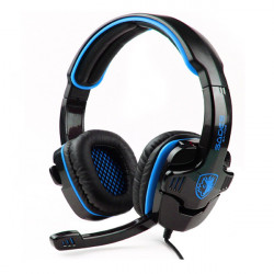 Sades SA-708 Stereo Gaming Hörlurar med Mikrofon Mjuka Öron-Pad