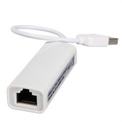USB 2.0 til RJ45 Fast Ethernet 10/100 Netværk LAN Adapter Card Hvid