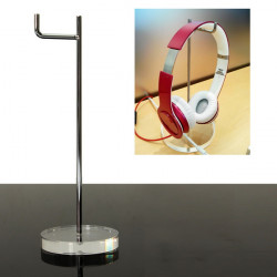 Universal 15mm Acrylic Base Headphone Stand Headphone Display Holder