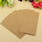 100 Pages Double-sided Available Kraft Message Card