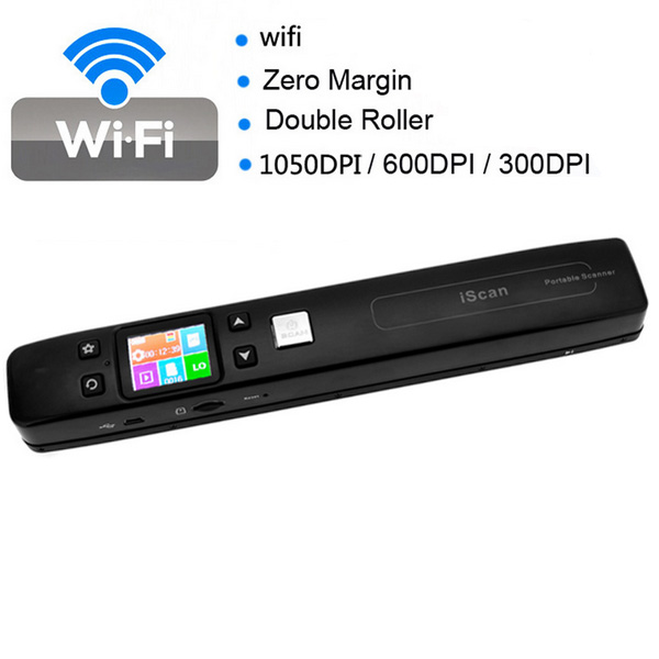 1050DPI Iscan WIFI Mini Bærbar High Speed ​​Håndholdt Document Scanner Kontor & Skoleartikler