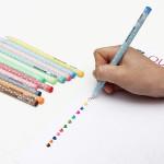 12stk Cute Shining Candy Kuglepen Set Stationery 0.5mm Kontor & Skoleartikler