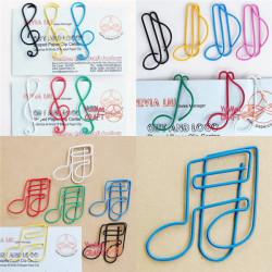 12 X Multi Farve Musik Note Shape Papirclips Farverige Office Stationery