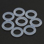 150stk Hvid O-Ring Keycap Gummi for Cherry MX Switch Tastatur Tastaturer & Mus