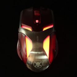 1600 DPI Justerbar 2.4GHz Trådlös Gaming Optisk Skull Mouse