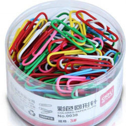 160 Per Tub 29mm Office Supplies Metal Colorful Paper Clips