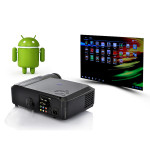 2000 Lumens Android 4.0 HD Projector Support WiFi Office & School Supplies