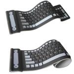 2.4GHZ Trådløs Vandtæt Fleksibelt Roll Up Silicone Rubber Tastatur Tastaturer & Mus