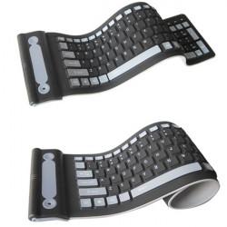 2.4GHz Trådlös Vattentät Flexibel Roll Up Silikongummi Tangentbord