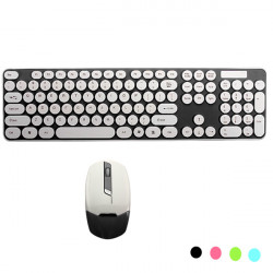 2.4GHz DPI Adjustable Wireless Choc Keyboard Mouse Combo