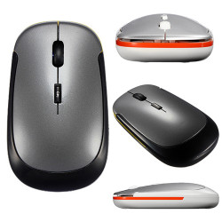2.4GHz Ultra-Slim USB Wireless Optical Mouse For Macbook PC Laptop