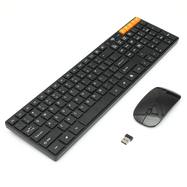 2.4G Multimedia Optisk Trådløs Tastatur Og Mus Kit Set Tastaturer & Mus