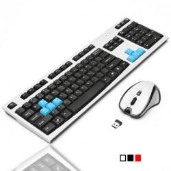 2.4G optische drahtlose Gaming Keyboard 1600 DPI Maus Set für Win 7 8.1