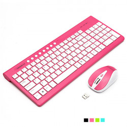 2.4G Optical Wireless Multimedia Keyboard Mouse For PC Laptop