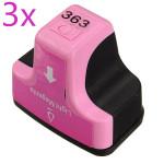 3 x Light Magenta 363 Tintenpatronen für HP C5180 Smart C6180 Smart C7180 Drucker Büro & Schulbedarf