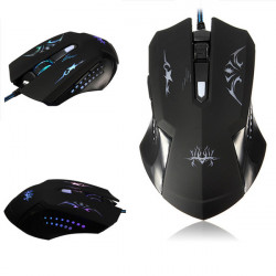 4800DPI 7 Color LED Wired USB Optical Gaming Mouse