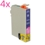 4 x Magenta Ink Cartridge for Stylus T200XL-XP200 300 400 WF2520 2530 Office & School Supplies