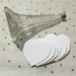 50 Pieces Hvid Heart Shape Kraft Papir Hang Tags Party Label Kontor & Skoleartikler
